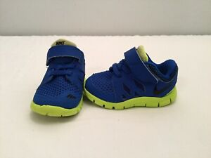 quality design 27fdb 57dd3 Details about Nike Free 5.0 Infant/toddler Boys Blue/green Shoes--size 4 C