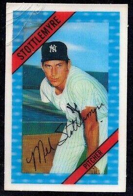 1972 Kelloggs 3 D Baseball Card New York Yankees Mel
