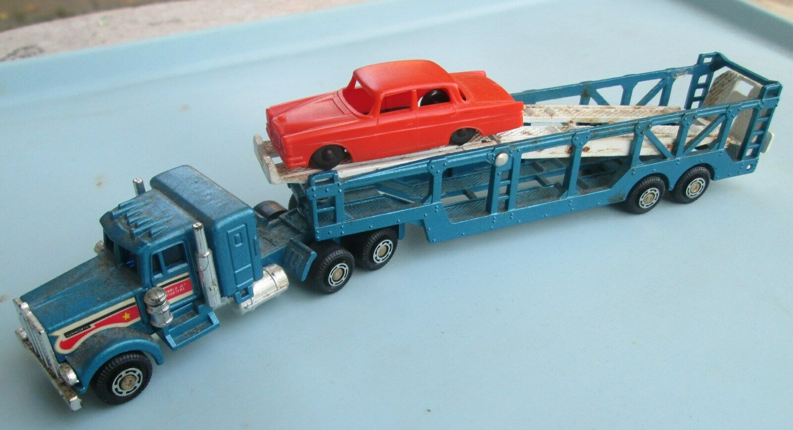 H.O. Haulers SHINSEI Kenworth Car Hauler Mini POWER Trailor