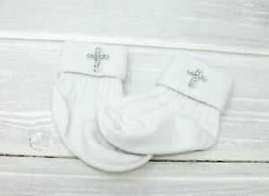 Baby-christening-baptism-socks-with-cross-with-Swarovski-crystals-romany-style