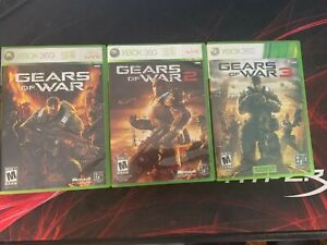Gears of War Lot 1, 2, 3 - Xbox 360 Game Bundle Complete w/ Manuals CIB