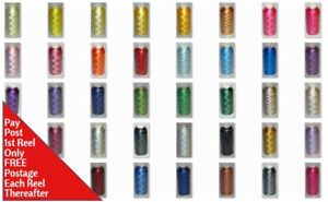 Marathon Rayon hilo máquina de bordar 1000m Carrete elección de más de 400 Colores  </span>