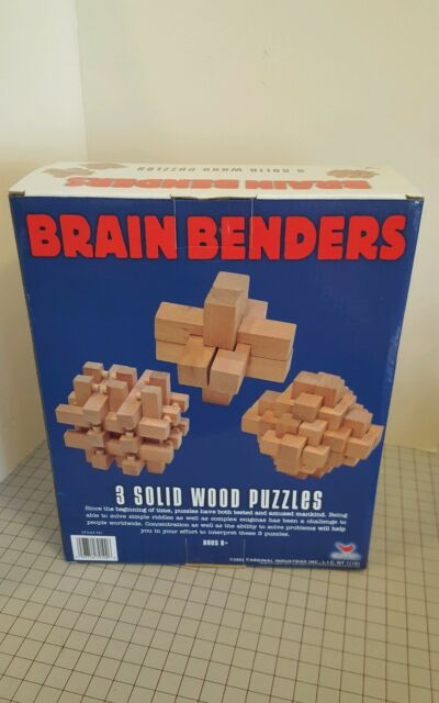 Brain Benders 3 Solid Wood Puzzles By Cardinal Ages 5 3d Challenging