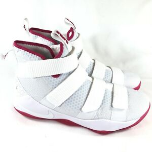 hot sale online 7b5f2 30195 Details about Nike Lebron Soldier XI 11 Kay Yow White Pink 897644-102 Men's  Size 12.5 New