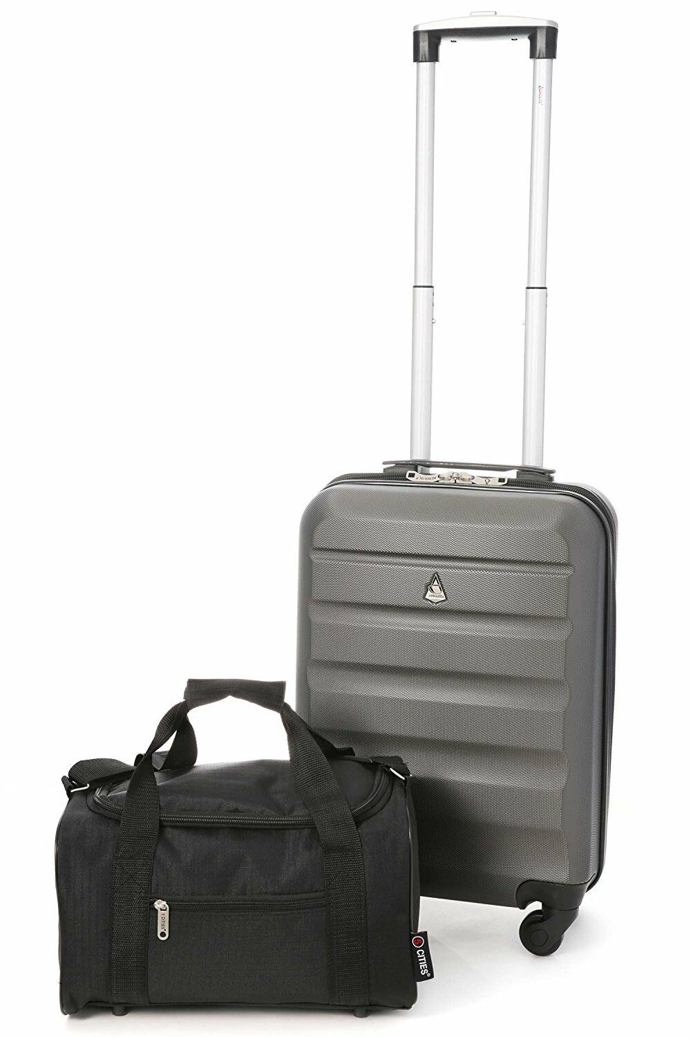 d4099f86f3573 Details about Aerolite Hard Shell Lightweight Hand Cabin Luggage Suitcase + Ryanair  2nd Bag