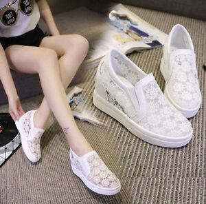 2017-FASHION-Women-039-s-Lace-Hidden-Wedge-High-Top-Sneakers-Athletic-Shoes-HOT