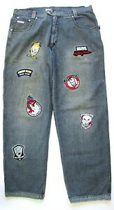Marvel-Comics-Johnny-Blaze-Denim-Jeans-Pants-Spiderman-Ghost-Rider-Size-40x32