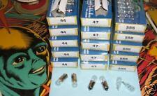 50 ampoules neuves mix #44, #555 et/ou #47  , 6,3Volts