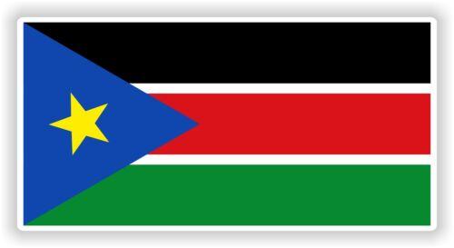 1x FLAG SOUTH SUDAN DRAPEAU STICKER BUMPER AUTOCOLLANT DECAL CAR BIKE AUTO