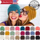 CC BEANIE New Women Cable Knit Super Cute Beanie Thick Cap Hat Unisex Slouchy