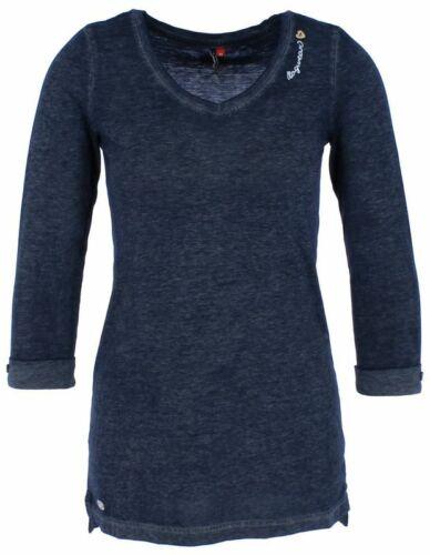 Ragwear LETIT Damen Langarm Shirt V-Ausschnitt