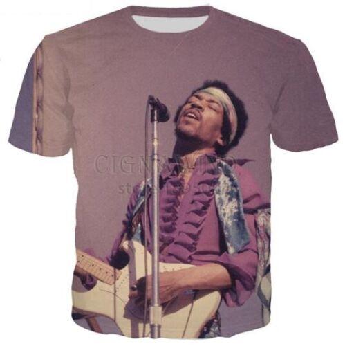 Guitarist jimi hendrix 3D Print Women//men Casual T-Shirt Short Sleeve Tops S-5XL
