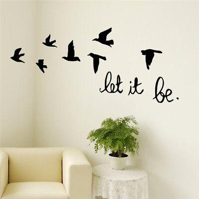 Black Flying Birds Vinyl Wall sticker For Kids Rooms Bedroom Decals Poster LP