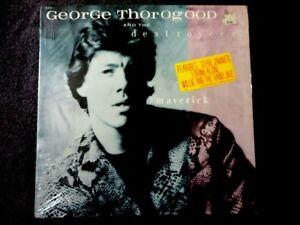 "GEORGE THOROGOOD MAVERICK LP VINYL BLUES ROCK ""I DRINK ALONE"" SHRINK HYPE STICKR"