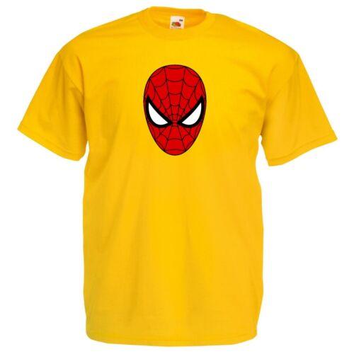 TV Spiderman Spider Man Face Mask Movie parody T Shirt Kids Size
