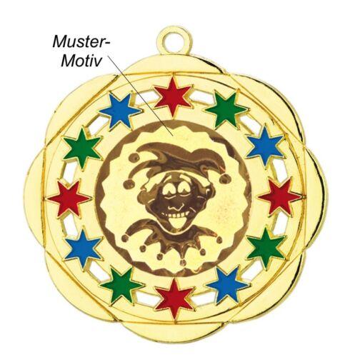 Karnevalsorden 50mm gold/bunt Köthen inkl.Emblem & Kordel nur 1,85 EUR/Stück Medaillen