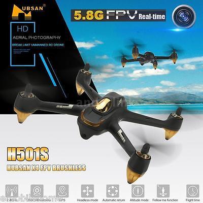 Hubsan H501S X4 5.8G FPV 10CH Brushless RC Quadcopter 1080P HD Camera GPS BLACK