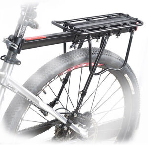 Bicycle-Mountain-Bike-Rear-Rack-Seat-Post-Mount-Pannier-Luggage-Carrier-Metallic