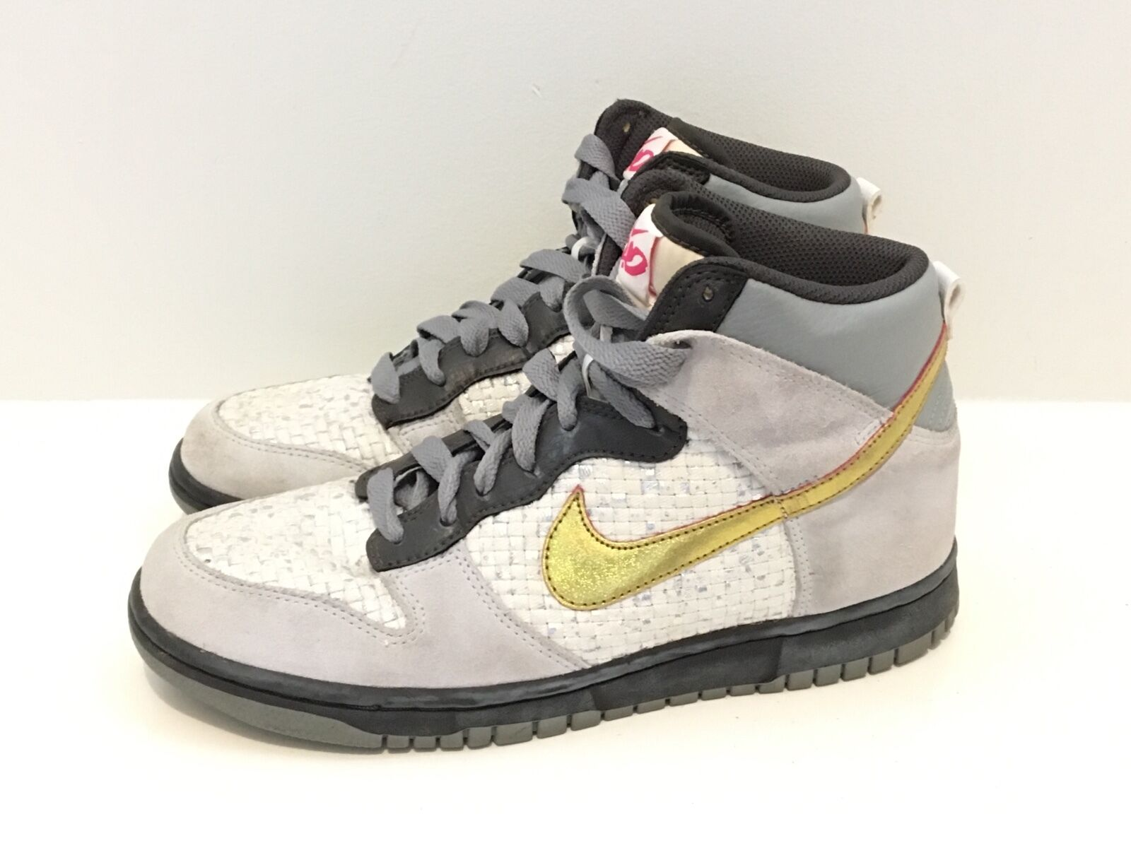 WOMEN'S 2009 NIKE AIR 6.0 342257-062 GRAY WHITE SPARKLE GOLD GLITTER SIZE 8.5 Cheap and beautiful fashion