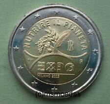 Italia 2 EURO MONETA COMMEMORATIVA 2015 EXPO MILANO EURO MONETA Commemorative Coin