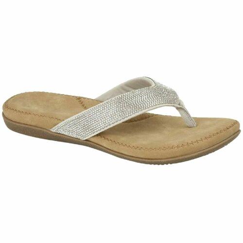 Cipriata Women Alcee L672 Diamante Flip Flop Mule Sandal With Cushioned Insoles