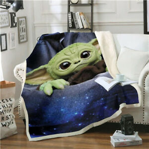 The-Mandalorian-Kid-Throw-Blanket-Baby-Yoda-Blanket-Plush-3D-Printed-2020-New
