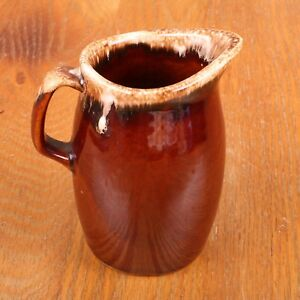 Vintage Hull Pottery Brown Drip Small Pitcher Oven Proof USA