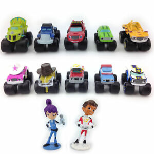 Blaze-and-the-Monster-Machines-12-pc-Toy-Car-Truck-Cake-Toppers-Set-UK-SELLER