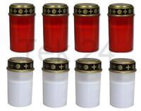 4x Led Grablichter Rot Oder Weiß Grableuchten Grablicht Grabkerze Kerze
