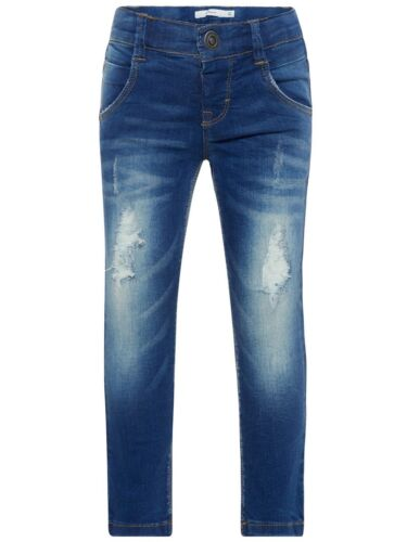 NAME IT Jungen X-Slim Jeans Hose Theo Tate blau used Größe 74 bis 104