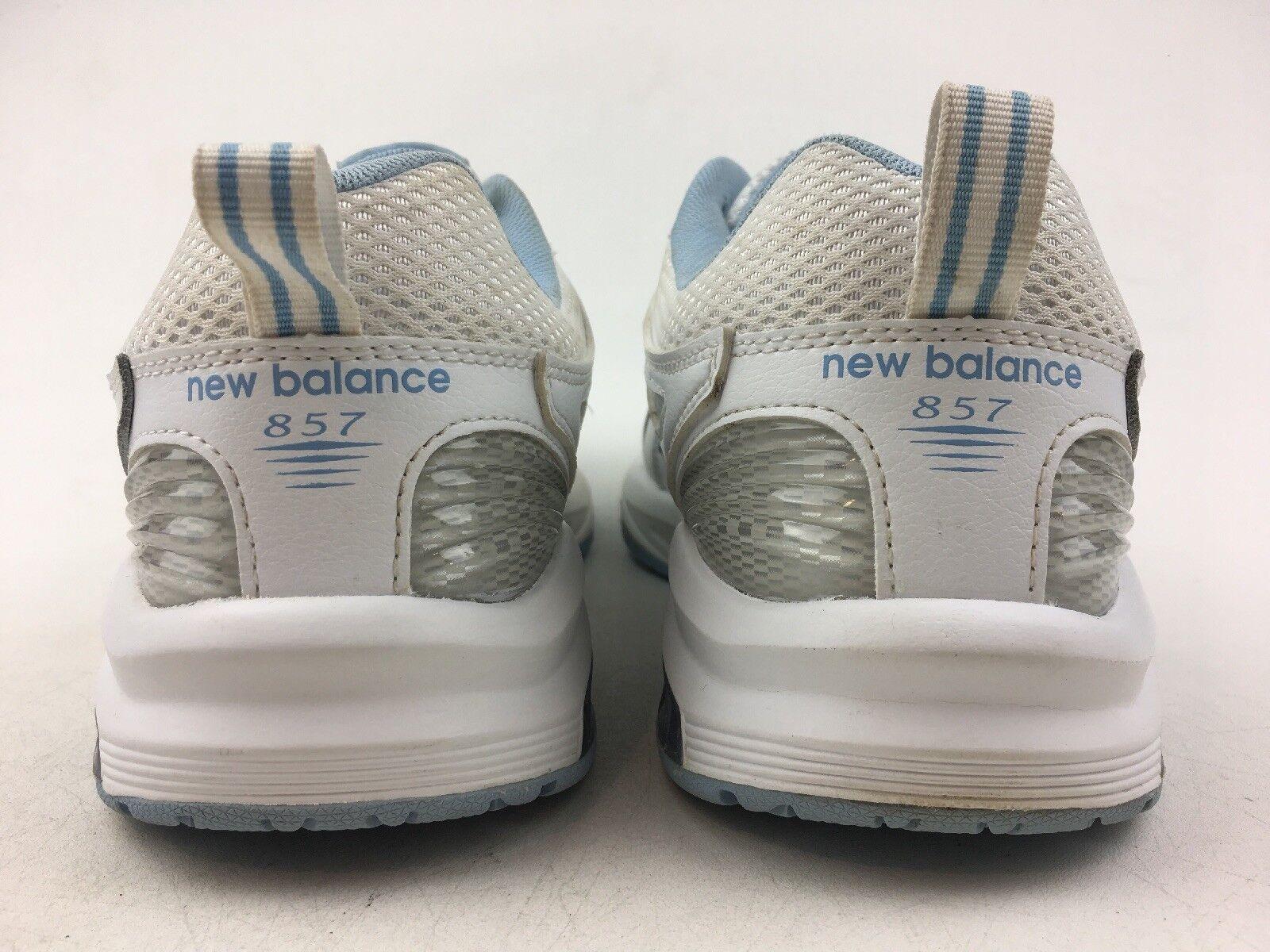 New Balance WX857WB2 Training Training Training scarpe - Wouomo Dimensione 10.5 D, bianca blu 1348 e0b2af