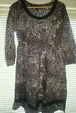 Size 16 Blue Paisley Print Dress La Redoute Ellos/Fresh/Spirit/Dark/Navy/NEW