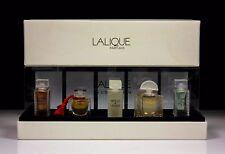 Art deco Lalique 5 Colección perfume miniatura conjunto 4.5ML