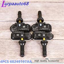 4pcs Tpms Tire Pressure Sensor 68249197aa For 2014 2020 Dodge Ram 1500 2500 3500