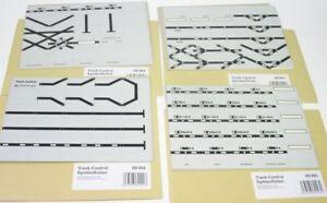 4-x-Symbolfolien-Track-control-Uhlenbrock-69091-94-neuw-OVP
