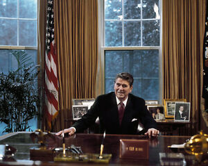 president in oval office. Image Is Loading President-Ronald-Reagan-sits-at-Resolute-desk-in- President In Oval Office R