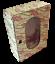 Ancien-Jouet-Armoire-Poupee-Cintre-Vintage-1970-decor-de-Rose-Simili-Vintage miniature 1