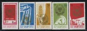 Stamps Albania Mnh Sc 897-01 Mi 1023-27 Coat Of Arms Albania