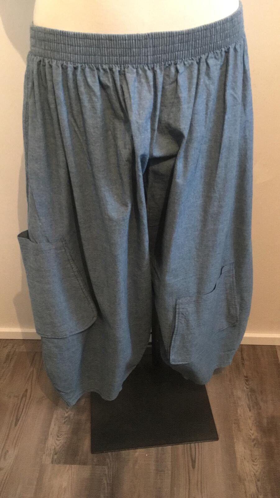 La Bass Light Balloon-Jeans Blau Größe 50-56 all-round rubber Pockets Blau Lagenlook