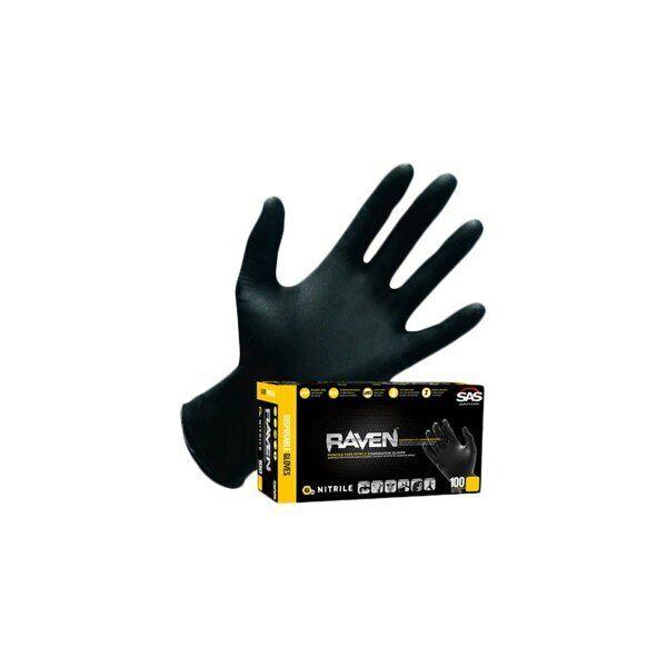 Raven Nitrile Disposable Glove Powder-Free Large