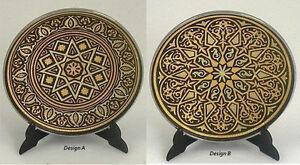Damascene-Gold-Star-Design-Round-Decorative-Mini-Plate-by-Midas-of-Toledo-Spain