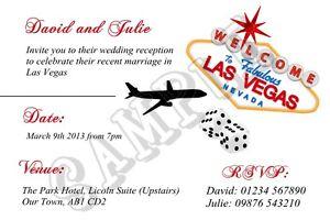 personalised las vegas wedding reception invitations married abroad