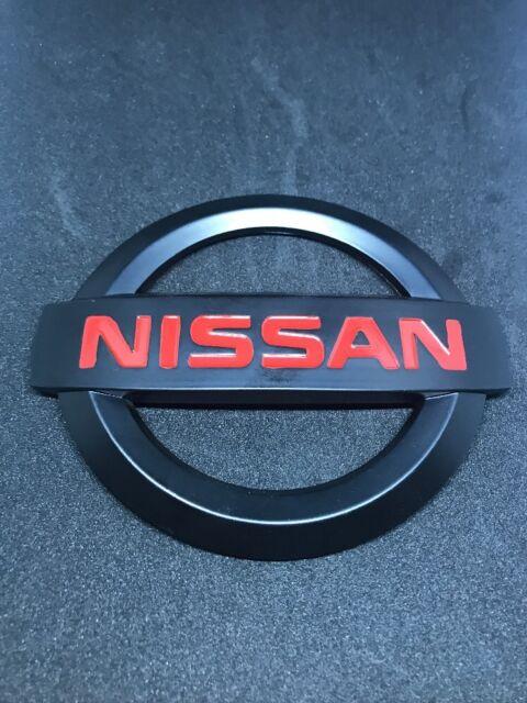 NISSAN 350Z 2003-2008 BLACK /& RED JDM NISMO FRONT EMBLEM NEW Matte Finish