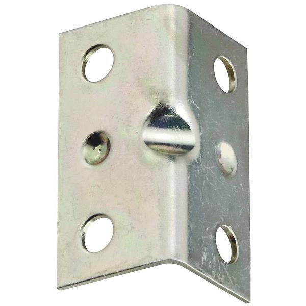 25 Pk Steel Zinc Plated 3 4  Wide X 1 1 2  Long Shelf Corner Brace 4 Pk N206920