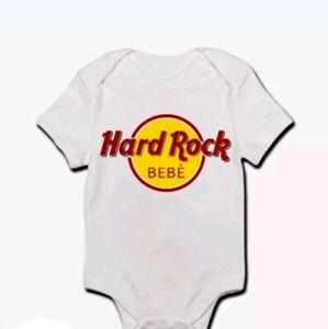 Body-pagliaccetto-neonato-bimbo-bebe-Hard-Rock-Bebe-divertente-personalizzabile