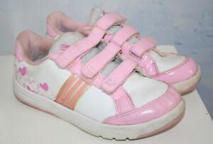 Details zu Ƹ̵̡Ӝ̵̨̄Ʒ ADIDAS Mädchen Schuhe Turnschuhe Sneakers Rosa Weiß Gr 30 (31)