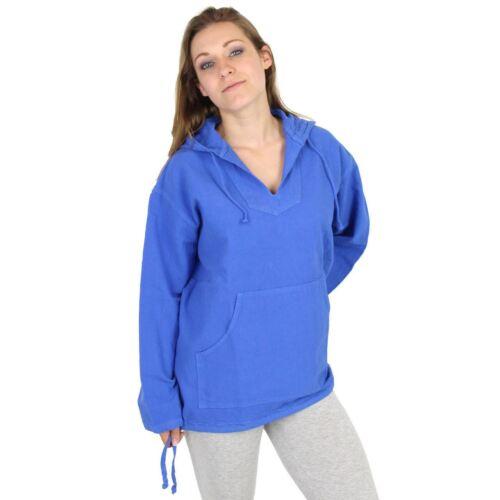con in In Made Usa Kangaroo cappuccio cotone Crinkle 100 Felpa Womens HSTdx4d