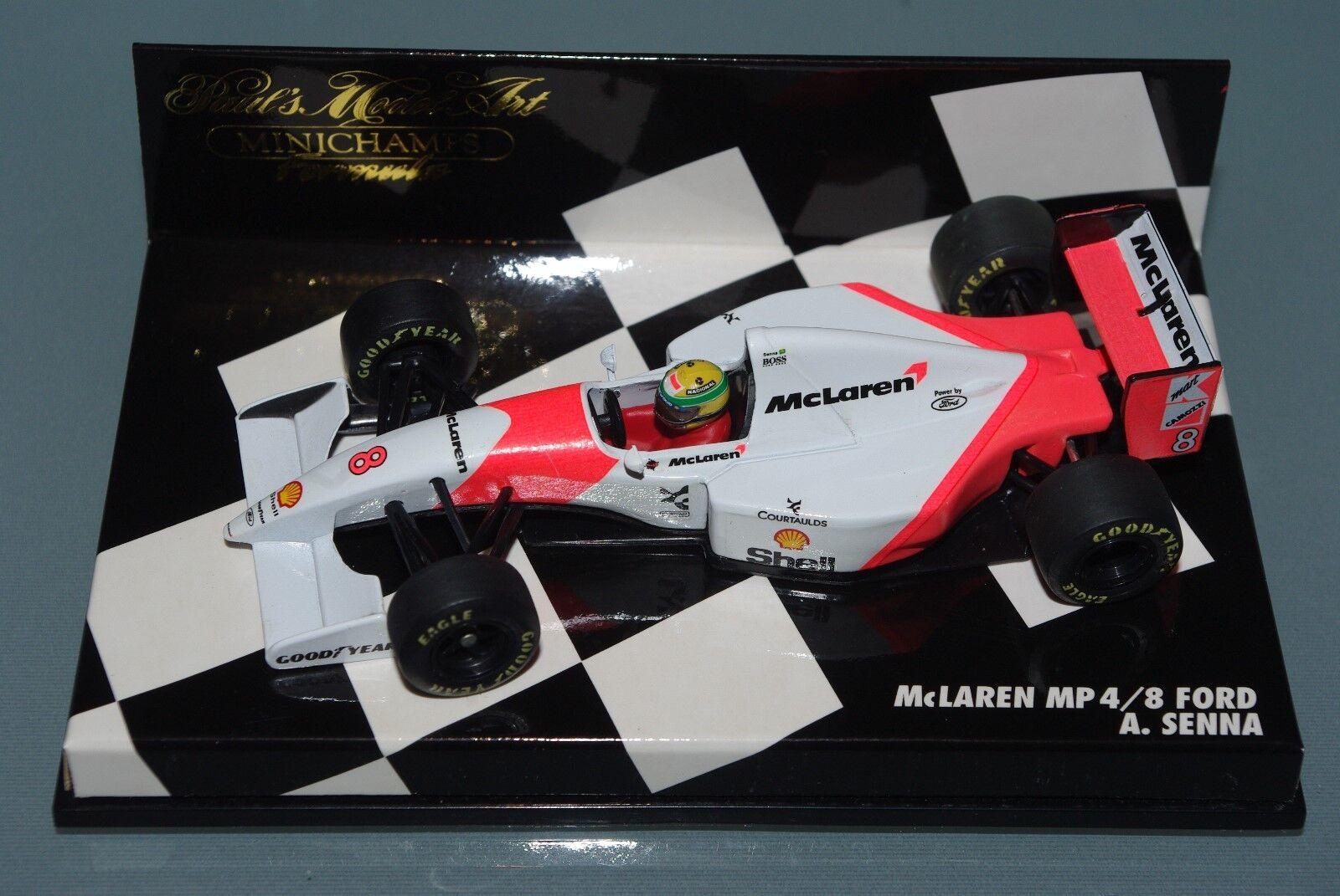 Minichamps F1 1 43 McLAREN FORD MP4 8 - Ayrton Senna-chequerbox Edition