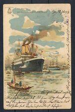Deutsche Kolonien,Litho Kiautschou, Reichspostdampfer Kiautschou,Topstück