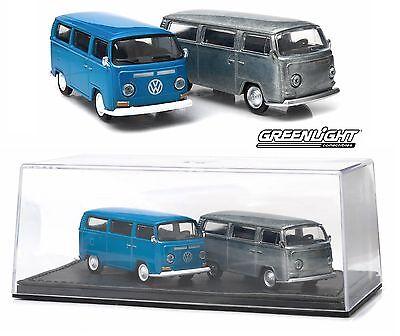 2015 GREENLIGHT 1:64 *FIRST CUT BOX SET* 1968 Volkswagen Type 2 Bus *NIB*